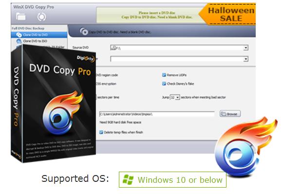 WinX DVD Copy Pro Halloween